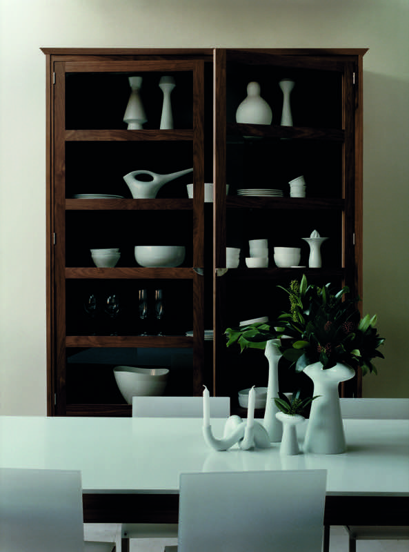 Simple, co-ordinated furniture and accessories allow this handcrafted walnut cabinet to take centre stage #Smallbone