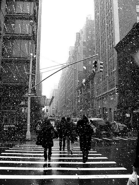 City Life Winter Time