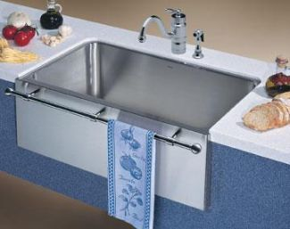 Lovely Stainless Steel Apron Sink with towel Bar
