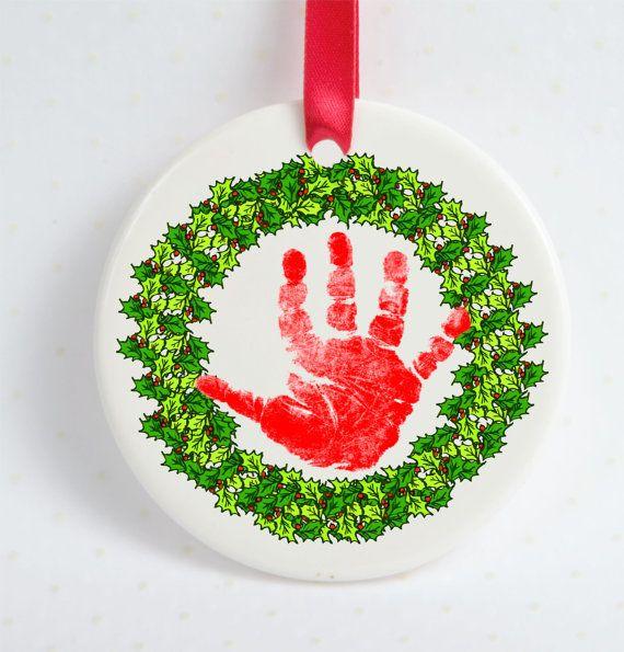 65 best Holiday Keepsake Creations  Baby Footprint and Handprint