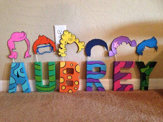 Bubble Guppies inspired Letters or Name on Etsy, $20.00