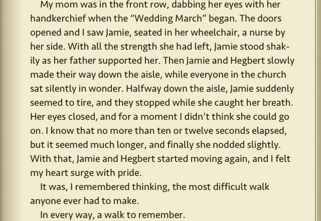 book review of a walk to remember by nicholas sparks