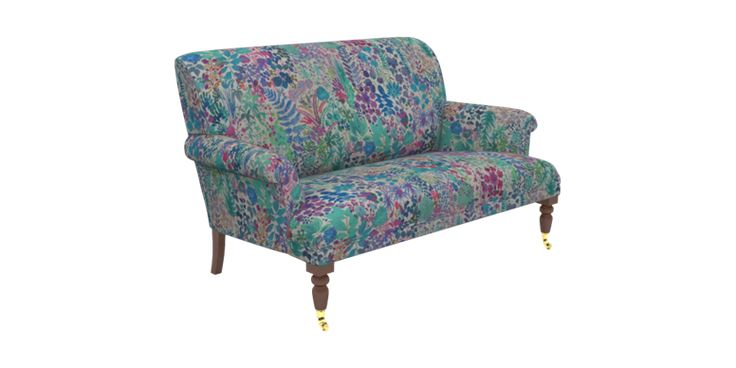 Multicoloured Small 2 Seater Sofa Liberty Fresco Lagoon | Midhurst