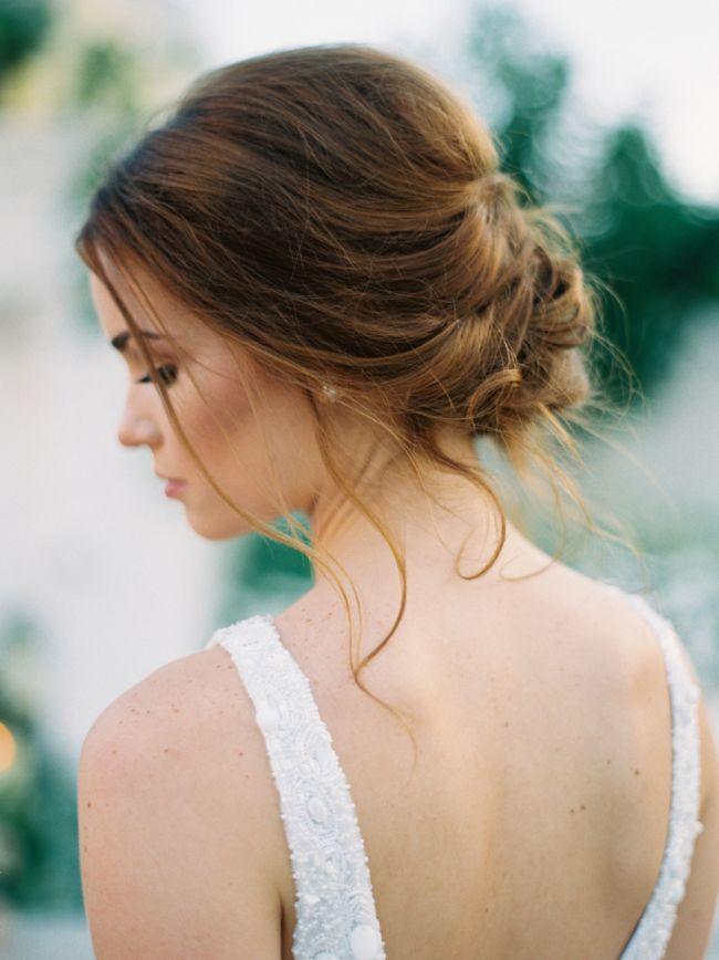 20 Romantic Bridal Updos | SouthBound Bride | http://southboundbride.com/20-romantic-bridal-updos | Credit: Jessica Gold Photography/Propaganda Hair Group via Style Me Pretty