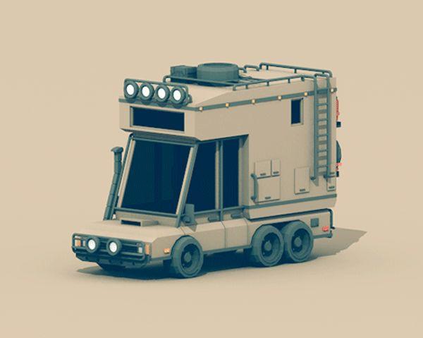 https://www.behance.net/gallery/Low-Poly-Vehicles/11915049