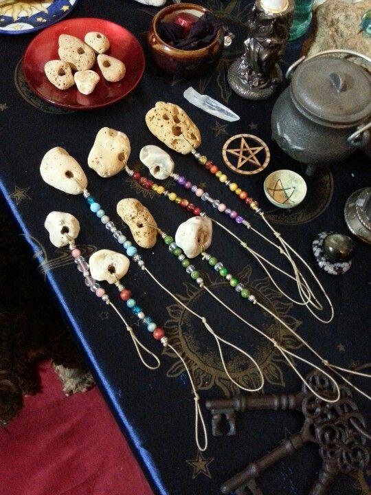 Hag stone talismans