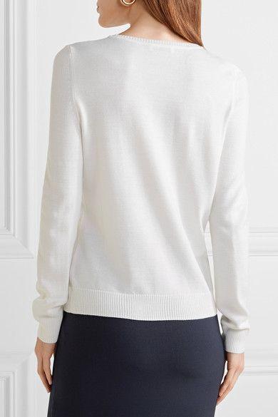 Altuzarra - Hermoine Embellished Merino Wool Sweater - Cream