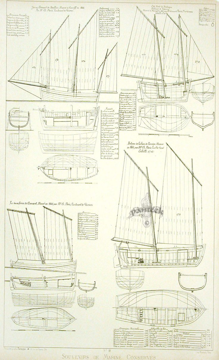 Paris Marine Museum Ship Plans 1882