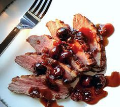 Duck Breast with Cherries