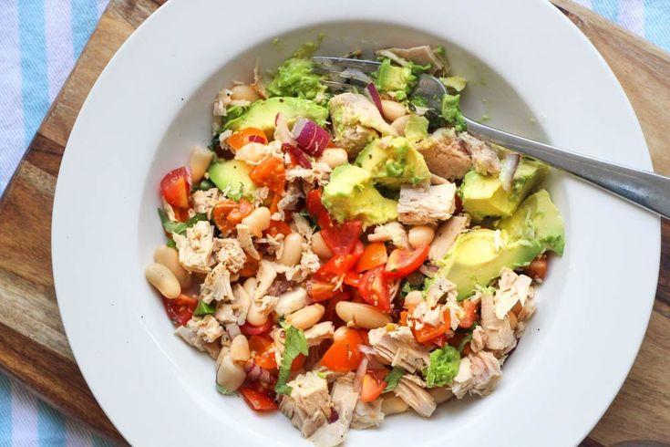 Tuna, Avocado, Tomato and Cannellini Bean Salad - Liliana Battle