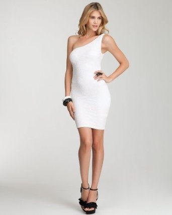 One Shoulder Lace Bodycon Dress - WEB EXCLUSIVE - WHITE (P/S)Web Exclusively, Shoulder Lace, Bodycon Dresses, Women Dresses, Fashion Clothing, Trends Women, One Shoulder, Lace Bodycon, Sak Fifth Avenue