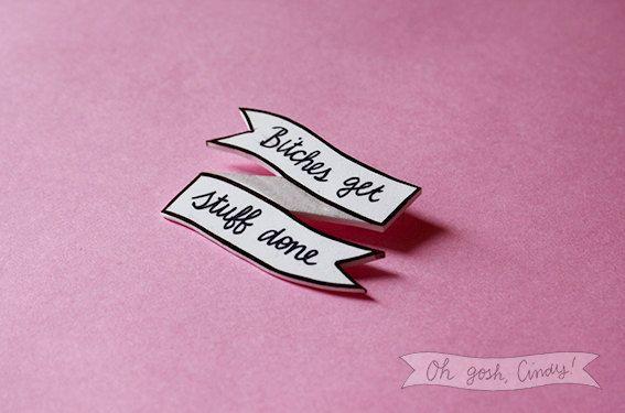 Tina Fey / Liz Lemon quote broach