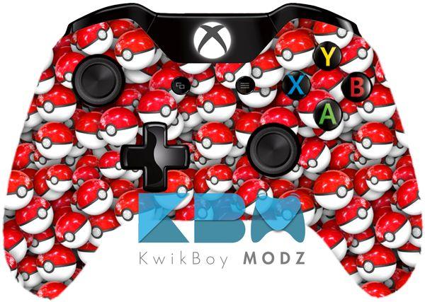 Custom Pokéball Xbox One Controller #pokeball #pokemon #pokemongo #xboxone #customcontroller