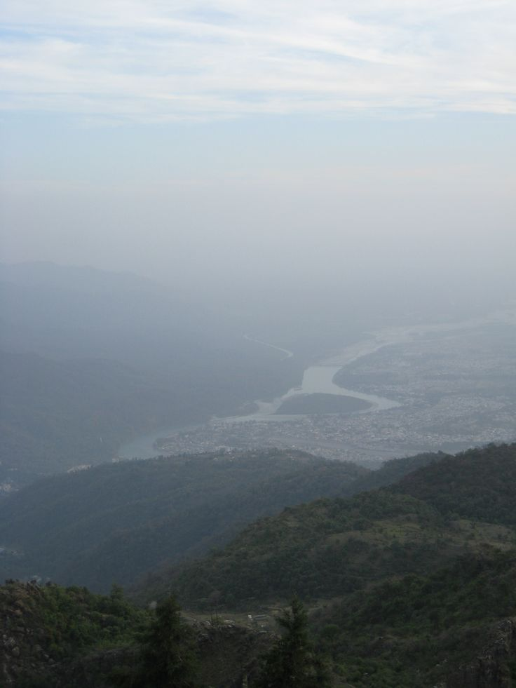 looking into India from the highest temple on the border with Nepal