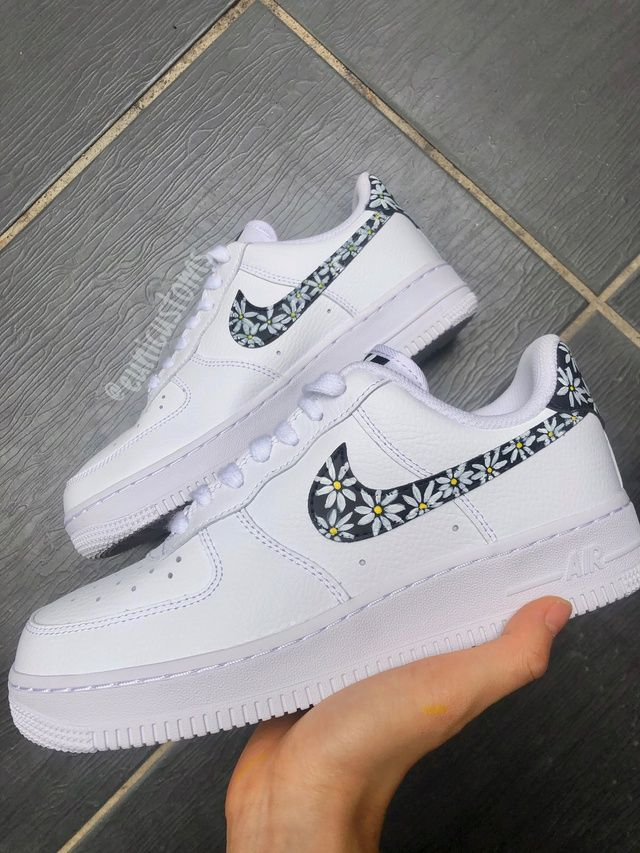 Flower Force Series - Daisy Nike AF1s