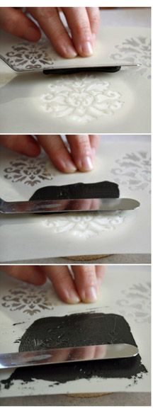 Tutorial stenciling a cookie