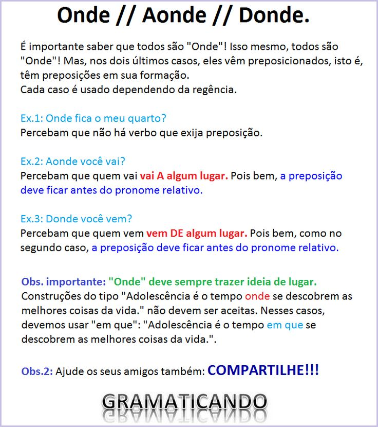 "Dica de Português: ''Onde, Aonde ou Donde""?"
