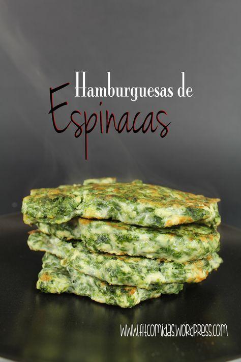 Hamburguesas de espinacas, receta Fit                              …
