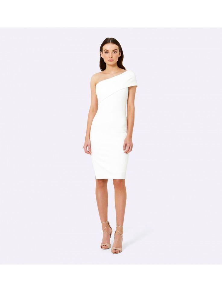 Ria One Shoulder Dress Porcelain - Womens Fashion | Forever New