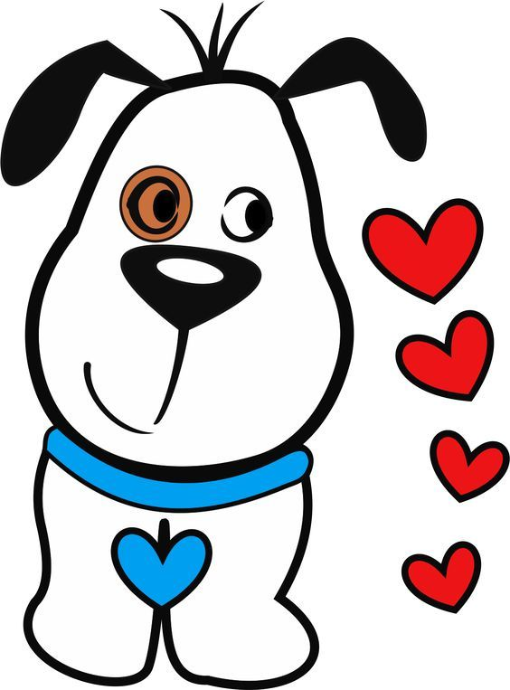 valentines clip happy clipart drawings puppy valentine heart shapes drawing arts easy dog coloring pages bee cartoon wishes adesivos unhas