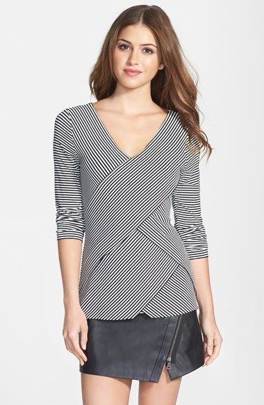 Vince Camuto Stripe Bandage Top (Regular & Petite) available at #Nordstrom
