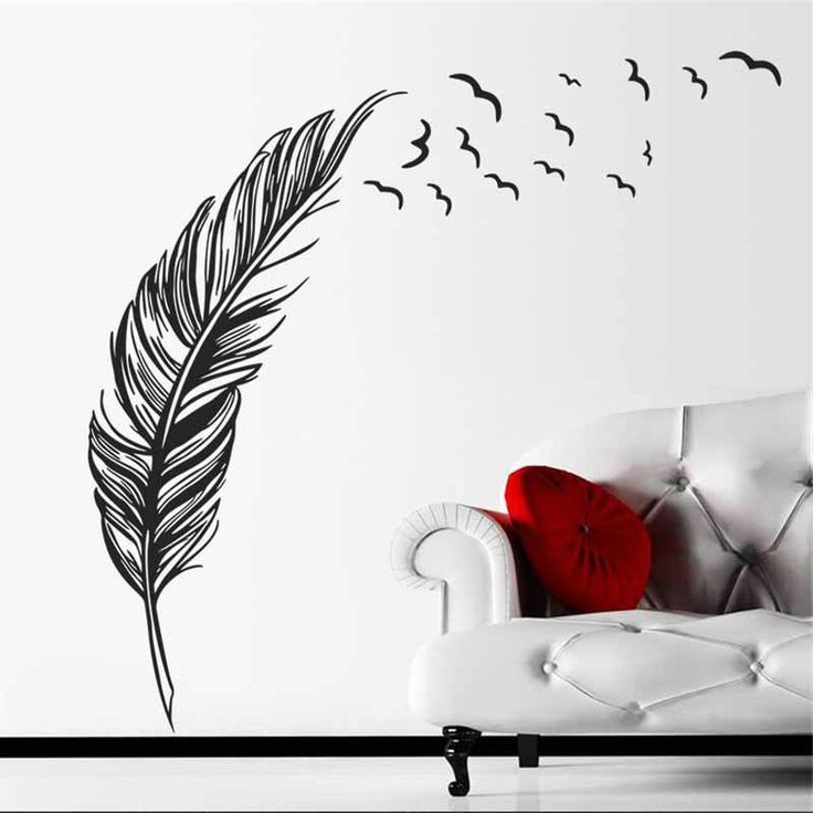 Flying Feathers Removable Wall Decal – GetheBuzz