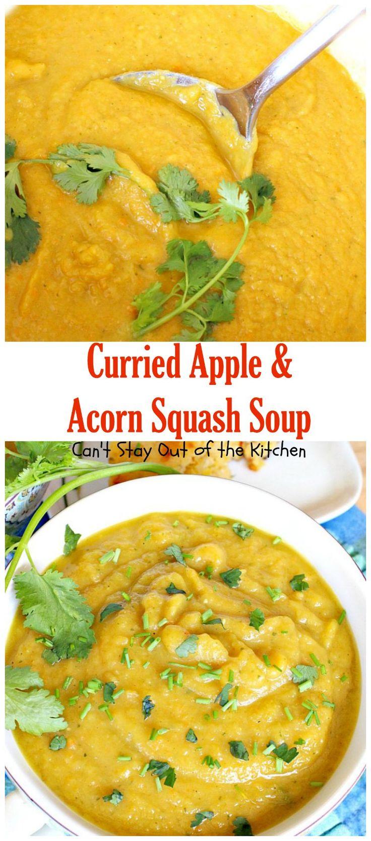 Acorn squash, Squash soup and Spicy soup on Pinterest