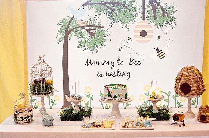 Check out deze BEE-utiful baby shower! MiniMe.nl