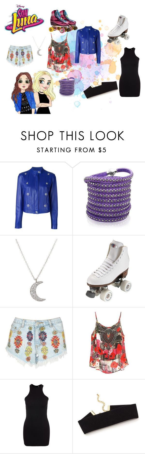 """""""soy luna"""" by maria-look on Polyvore featuring Versus, Sif Jakobs Jewellery, Finn, Riedell, Lipsy and New Look"""