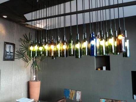 Luminária Pendente Teto Lustre Garrafa Vidro - R$ 21,99 - Bottle Pendant Lamp