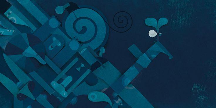"""Martin Leon Barreto illustration for """"El camino de Olaj""""."""