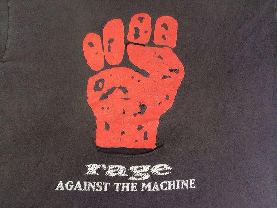 RAGE AGAINST The MACHINE Tshirt 1994 Vintage/ by sweetVTGtshirt