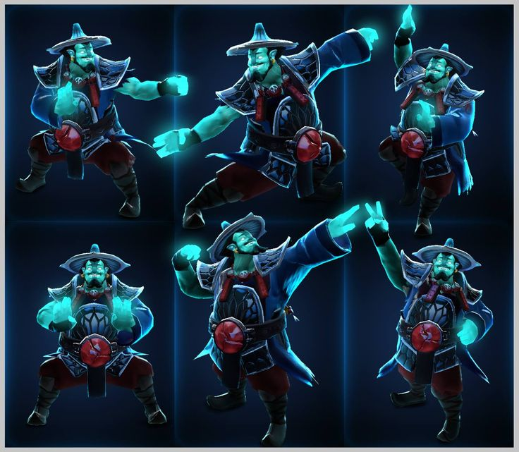 Storm Spirit. DotA 2. Jolly man with a thing for lightning. Dresses as a monk? With an Asian conical hat.