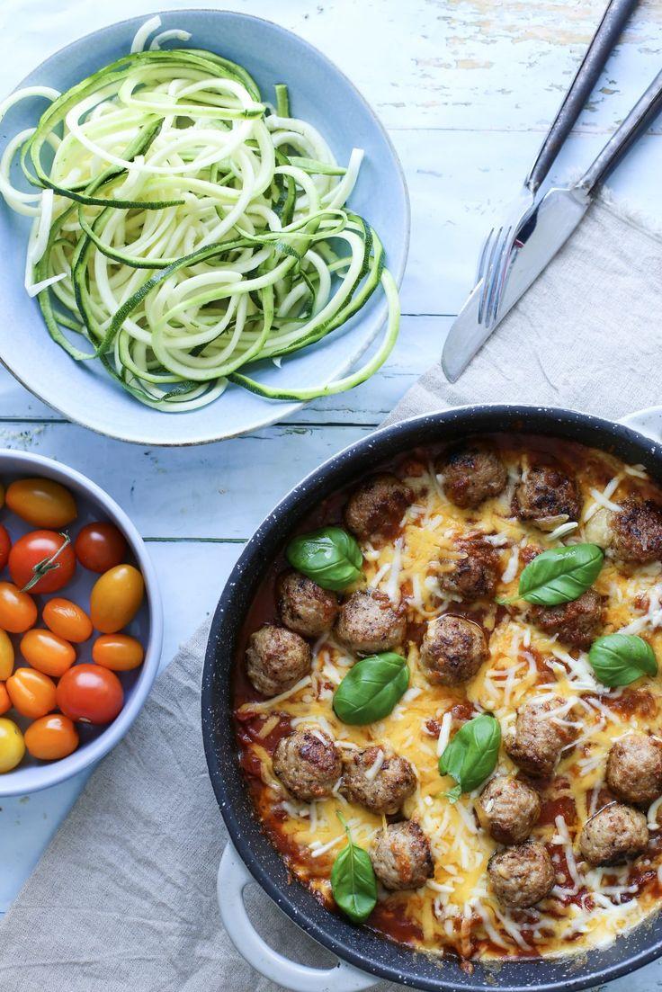 Kjøttboller i rask tomatsaus.