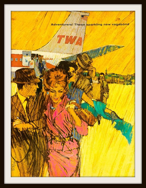 1962 TWA Vintage Advertisement. Vintage Travel ad. Vintage TWA, vintage travel as, vintage TWA ad, 1962 TWA ad, Vintage travel ad, vintage travel, 1962 travel d, vintage airlines ad, vintage airliner,