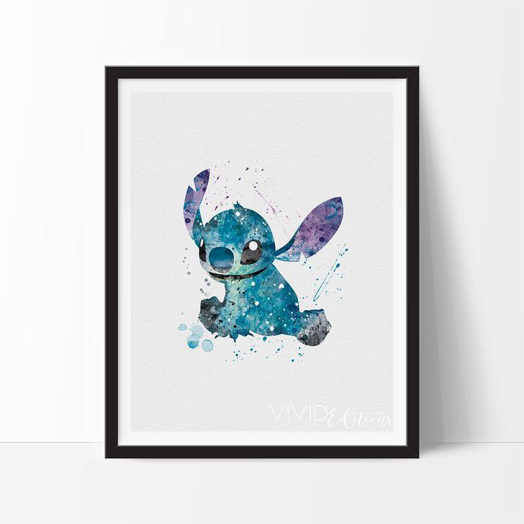 Stitch, Lilo & Stitch Watercolor Art - VIVIDEDITIONS