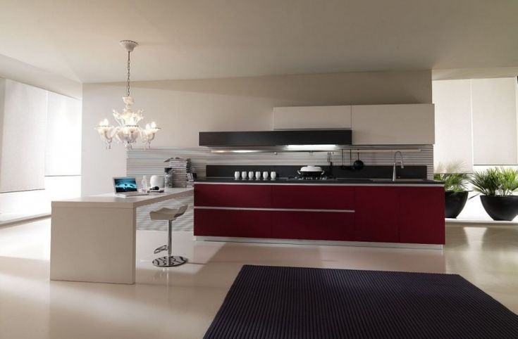 Designed by Domenico Paolucci for Pedini, the famous Italian company, these contemporary kitchens are really top in the class.
