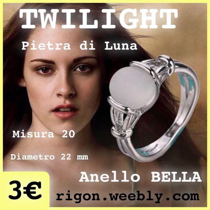 ANELLO BELLA TWILIGHT  PIETRA DI LUNA NOVITA 2015 - 3 € COLLEZIONE