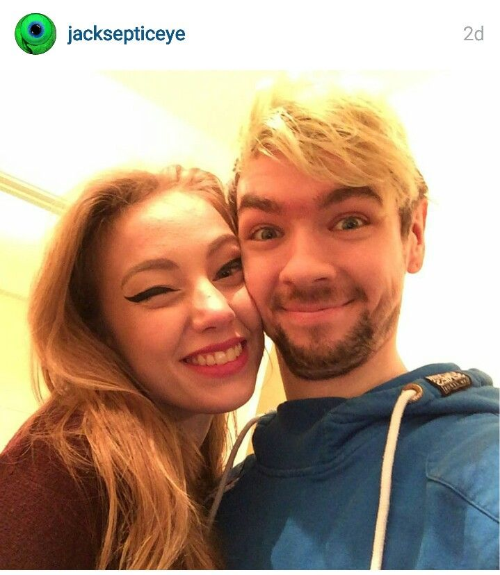 Jacksepticeye's girlfriend Signe aka Wiishu. Look how happy they make each other!  <3 Have fun living together.