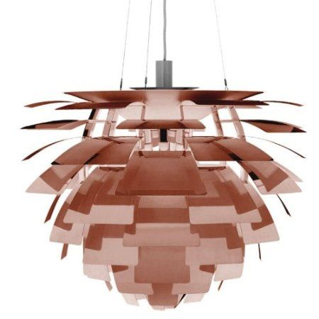 PH Pomme de pin - Suspension cuivre/brossé/verni/Taille 2/Ø60cm: Amazon.fr: Luminaires et Eclairage