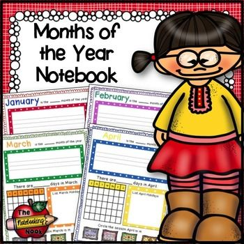 My Months of the Year Notebook