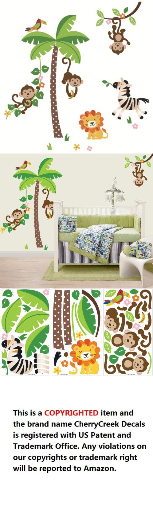 39 best jungle theme images on pinterest jungle theme nursery jungle monkeys and tree giant baby nursery wall sticker decals for boys and girls