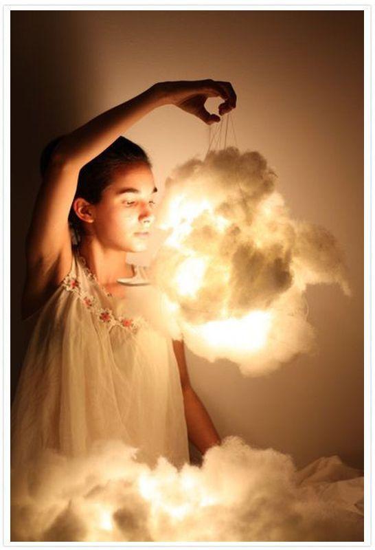 La lampe nuage : tuto pour une décoration de chambre d'enfant réussie - DIY - MoiJeFais