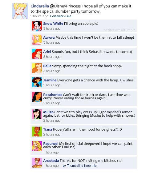 Haha! Internet Site, Disney Facebook,  Website, Disney Princesses, Web Site, Princesses Sleepover, Things Disney, Disney Humor, Disney Movie