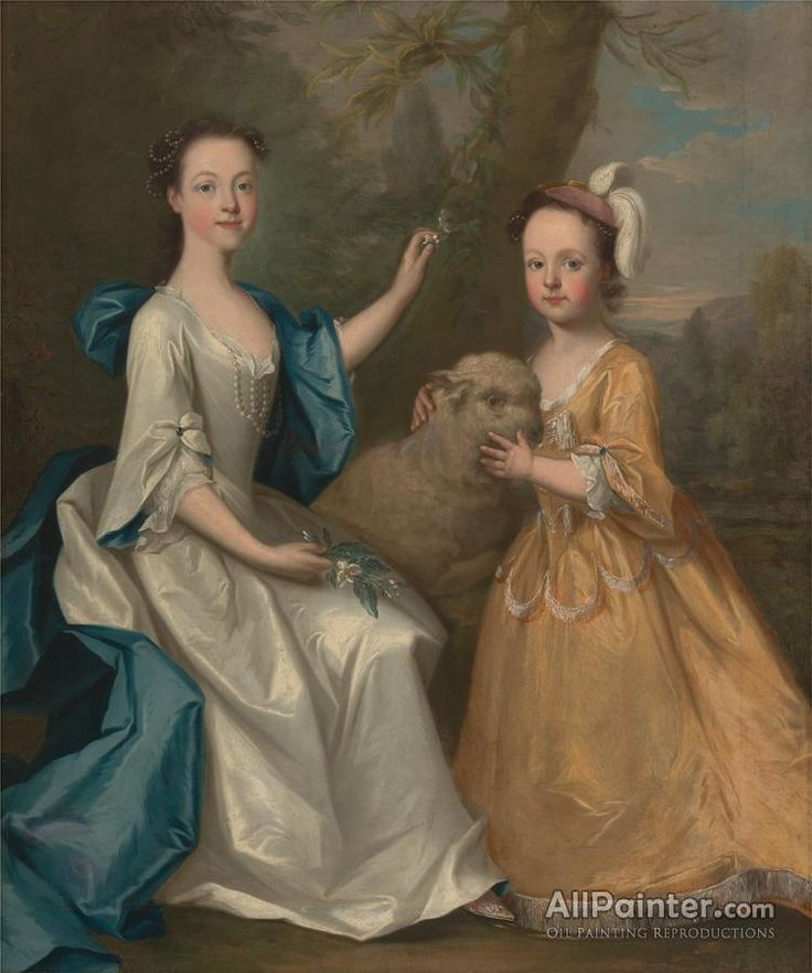 Thomas Hudson,Young Women With A Lamb oil painting reproductions for sale