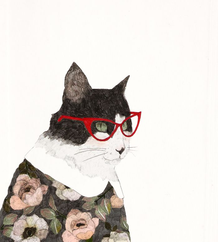 Titina (ilustración inspirada en mi gata) Mayo 2014