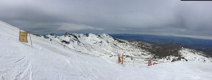 The edge of Sierra Nevada spring skiing