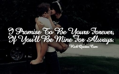 Love You Forever You Mine Always ~ Rick