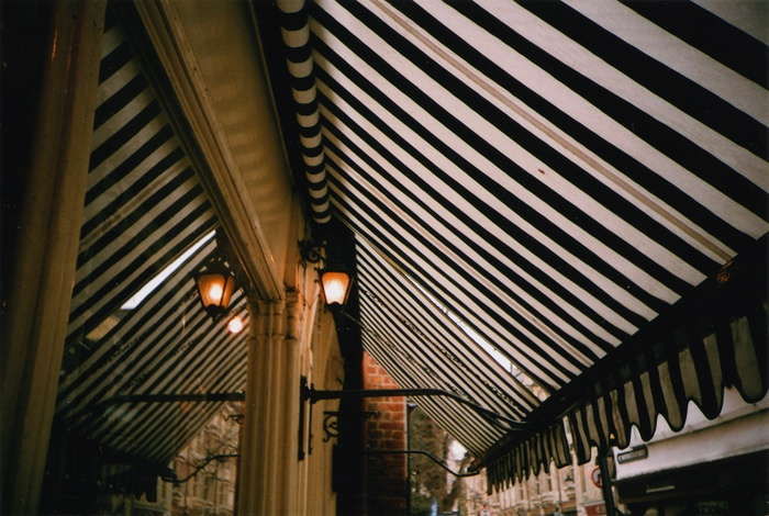 Classic Striped Awning Paris Spotted Dotted Piped And