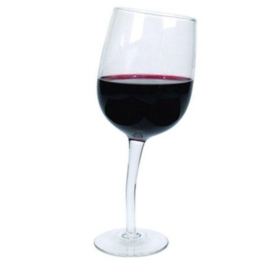inclined glass unique wine